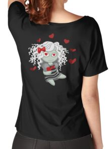 Loving doll giving her heart Women's Relaxed Fit T-Shirt