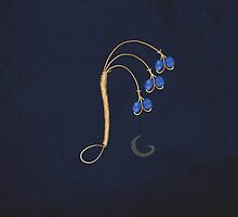 Wire Work Bluebell Brooch by thebigG2005