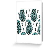 Paisley pattern Greeting Card