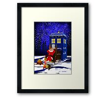 The Doctor Relax before Christmas Framed Print