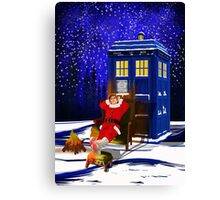The Doctor Relax before Christmas Canvas Print