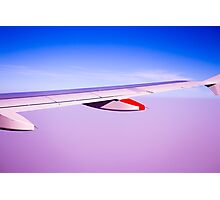 Wing aircraft in the air Photographic Print