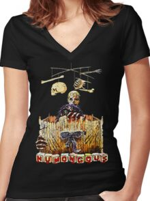humongous Women's Fitted V-Neck T-Shirt