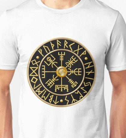 Norse Vegvisir Runes - Black Unisex T-Shirt