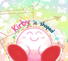 Kirby is shaped like a friend Sticker