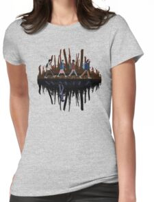 Stranger Abbey Road - Upside down Womens Fitted T-Shirt