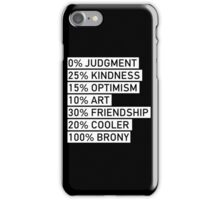 100% BRONY (Black & White) iPhone Case/Skin