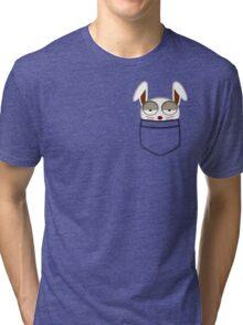 Pocket rabbit Tri-blend T-Shirt