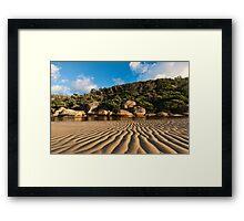 Tidal River Ripples Framed Print