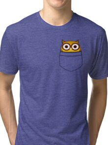 Pocket owl Tri-blend T-Shirt