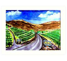Temecula Wine Country Art Print
