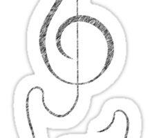 Treble Clef Guitar Sticker