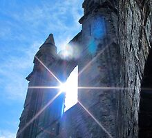 St Andrews Cathedral Sunglare Angel by jrhall19