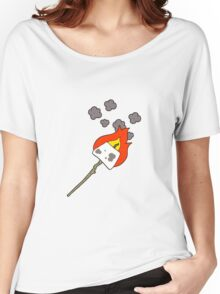 cartoon marshmallow on stick Women's Relaxed Fit T-Shirt