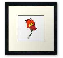 cartoon rose Framed Print