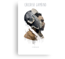 Gambino Droplet No Background Metal Print