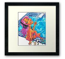 Smoking Mermaid Framed Print