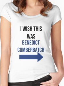 I Wish This Was Benedict Cumberbatch Women's Fitted Scoop T-Shirt