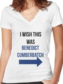 I Wish This Was Benedict Cumberbatch Women's Fitted V-Neck T-Shirt