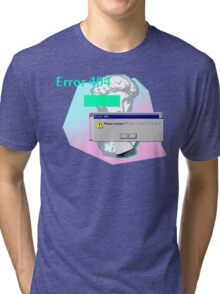 Vaporwave Error 404 Contact Tri-blend T-Shirt