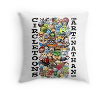 CircleToon Collage Throw Pillow