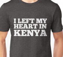 I Left My Heart In Kenya Love Native Homesick T-Shirt Unisex T-Shirt