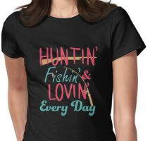 Hunting and fishing T-shirt Womens Fitted T-Shirt