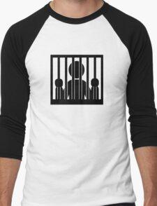 Prison jail arrest Men's Baseball ¾ T-Shirt