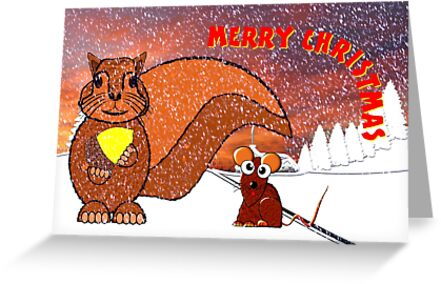 A Squirrel and Mouse Merry Christmas by Dennis Melling