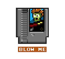 BLOW THE CARTRIDGE Nintendo NES Photographic Print