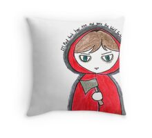 Once Upon a Crime - Li'l Red Throw Pillow