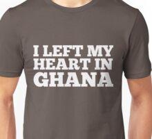 I Left My Heart In Ghana Love Native Homesick T-Shirt Unisex T-Shirt