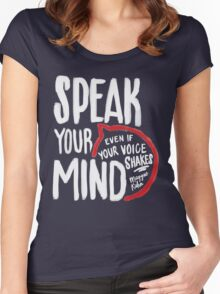 Speak Your Mind - Planned Parenthood Women's Fitted Scoop T-Shirt