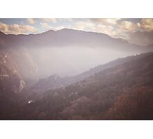 Mountains in fog Photographic Print