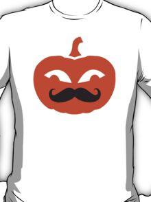 Pumpkin face mustache T-Shirt