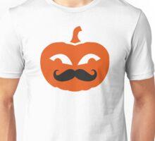 Pumpkin face mustache Unisex T-Shirt