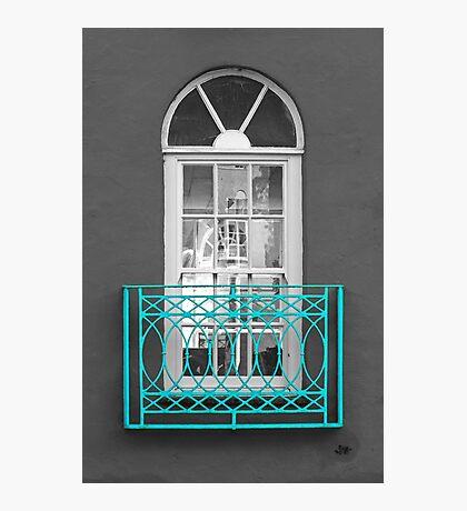 Turquoise Balcony Selective Photographic Print
