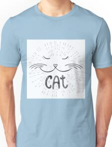 Cute cat, Hand drawn Unisex T-Shirt