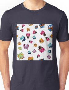 cute owls. hand drawing cartoon characters Unisex T-Shirt