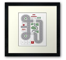 Play Cars on Daddy's Back - Gift for Dad and Kids Funny Car Play Mat Framed Print