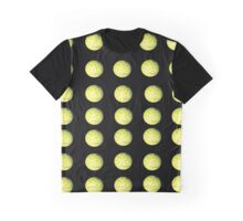 Yellow Golf Balls On A Black Background. Graphic T-Shirt
