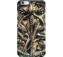 Wood Carving Priory church of St Mary Deerhurst England 198405140071 iPhone Case/Skin