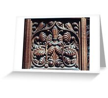 Wood Carving Priory church of St Mary Deerhurst England 19840514 0072 Greeting Card