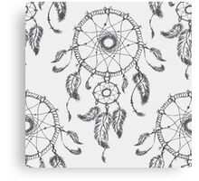 Dreamcatcher is then decorated with sacred items Canvas Print