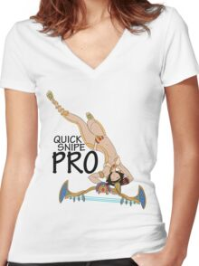 Neith- Quick Snipe Pro! Women's Fitted V-Neck T-Shirt