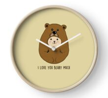 I Love You Beary Much Clock