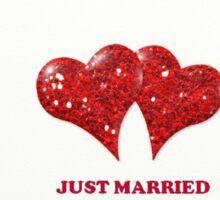 Just Married Sticker