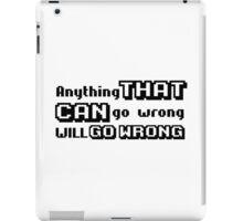 funny sarcastic murphy's law negative urban t shirts iPad Case/Skin