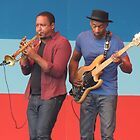 Marcus Miller Red & Blue Jazz by Sandra Gray
