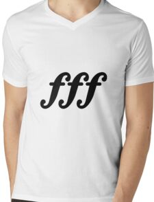 forte fortissimo Mens V-Neck T-Shirt